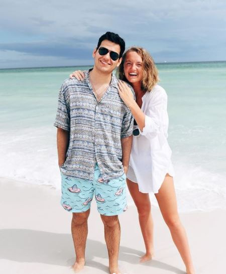 Alex Drummond enjoys a vacation at Miami Beach, Florida, with her husband, Mauricio Scott, on 28th May 2020