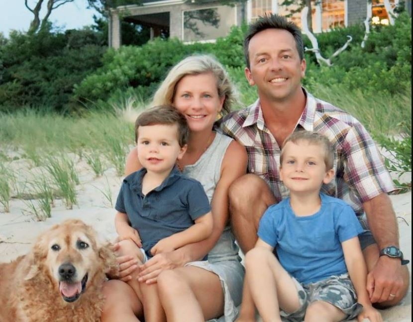 Brad Gerstner with his wife, Michelle Boyers Gerstner, and two sons