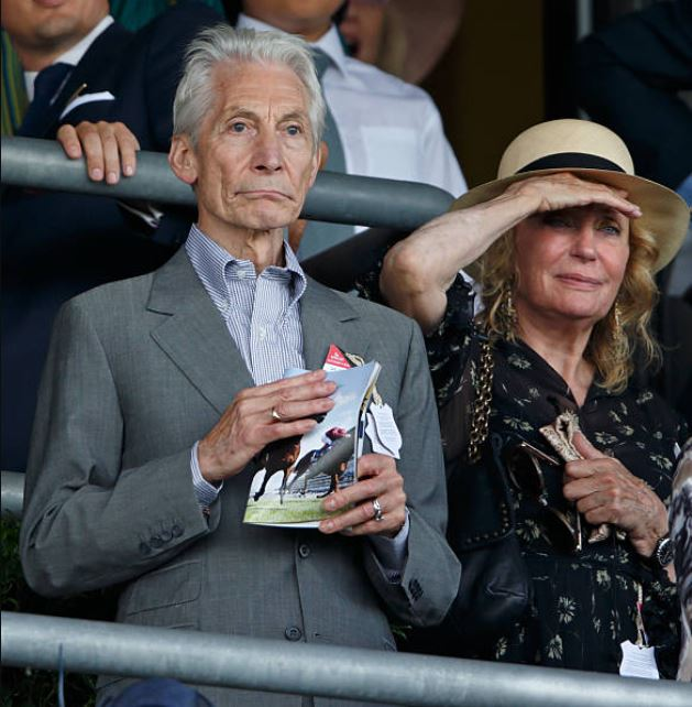 The late drummer, Charlie Watts, with his wife, Sherley Ann Shepard