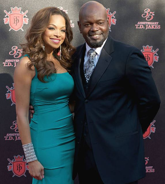 Emmitt Smith with his estranged wife, Patricia Southall.