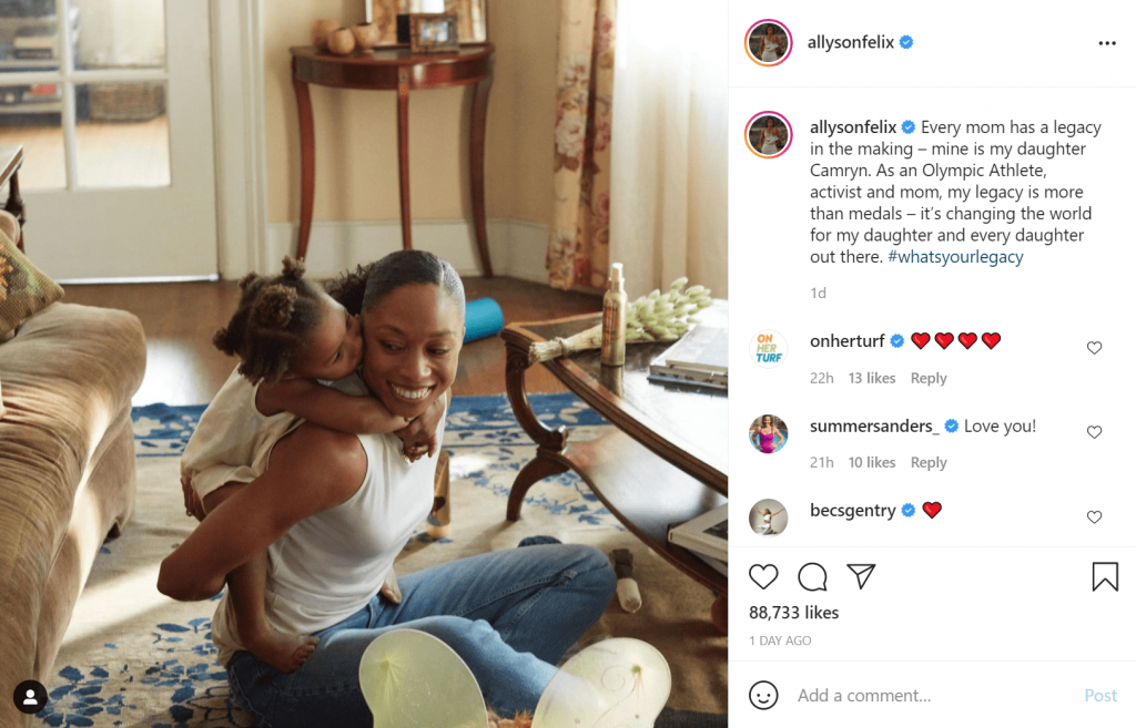 allysonfelix and daughter