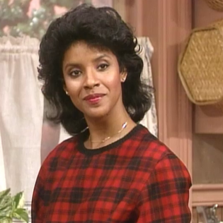 Phylicia Rashad as Clair Huxtable on The Cosby Show.