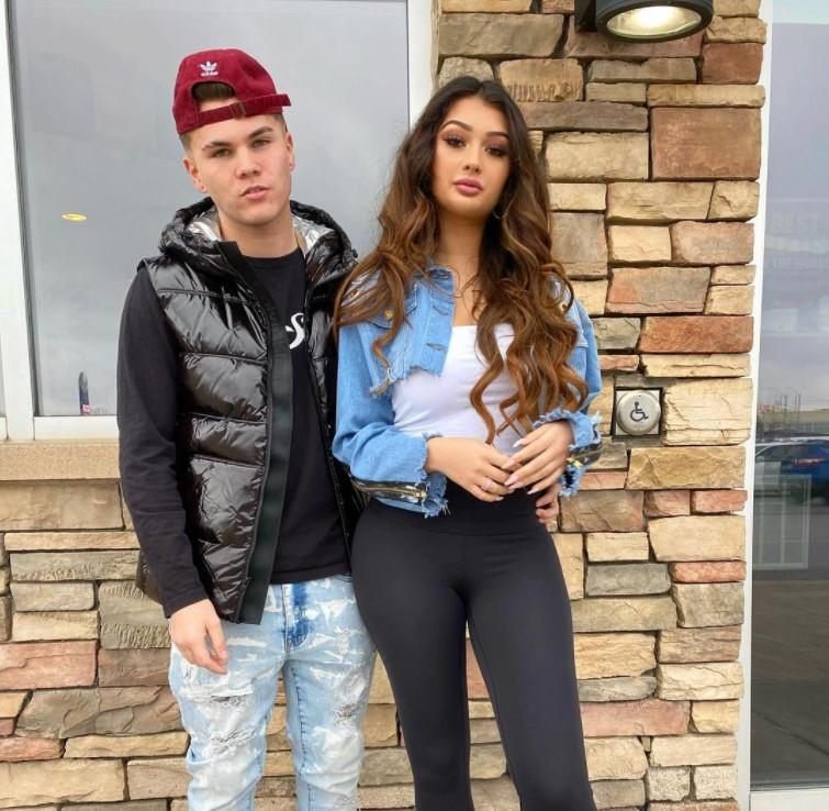 Karlee Steel alongside her ex boyfriend Josh 1623042277
